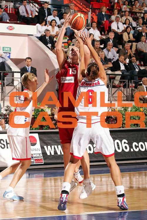 DESCRIZIONE : Ankara Eurobasket Women 2005 Repubblica Ceca Turchia<br /> GIOCATORE : Engin<br /> SQUADRA : Turchia Turkey<br /> EVENTO : Eurobasket Women 2005 Campionati Europei Donne 2005<br /> GARA : Repubblica Ceca Turchia Czech Republic Turkey<br /> DATA : 09/09/2005<br /> CATEGORIA :<br /> SPORT : Pallacanestro<br /> AUTORE : Ciamillo&amp;Castoria/Fiba Europe