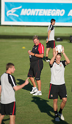 PODGORICA, MONTENEGRO - Thursday, September 2, 2010: Wales' manager John Toshack during a training session at the Montenegro FA Technical Centre ahead of the UEFA Euro 2012 Qualifying Group 4 match against Montenegro. (Pic by David Rawcliffe/Propaganda)