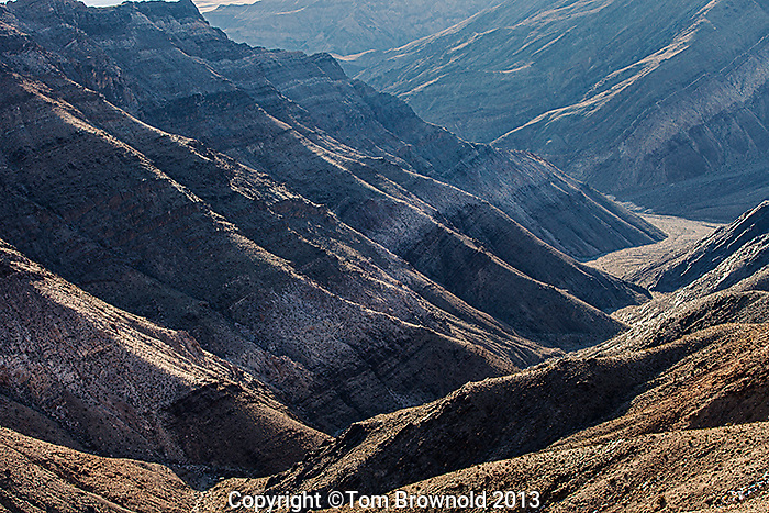 Looking into Trail Canyon from Augereberry Point in the Panamint Range, Death Valley, National Park