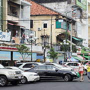 A street in the Cho Lon in Ho Chi Minh City (Saigon), Vietnam.
