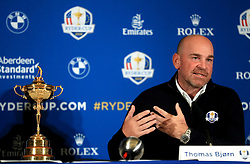 European captain Thomas Bjorn during a media event ahead of the 2018 Ryder Cup at The Hotel Pullman Paris Eiffel Tower, Paris.