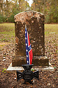 A confederate grave site in the graveyard of the Old Sheldon Church ruins, also known as the Prince William's Parish Church near Yemassee, South Carolina. The church build in 1745 was destroyed by the British troops during the  Revolutionary War, rebuilt and then destroyed again in 1865 by Gen. Sherman.