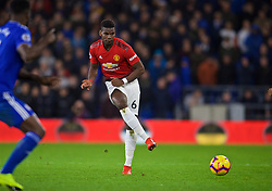 CARDIFF, WALES - Saturday, December 22, 2018: Manchester United's Paul Pogba during the FA Premier League match between Cardiff City FC and Manchester United FC at the Cardiff City Stadium. Manchester United won 5-1.(Pic by Vegard Grøtt/Propaganda)