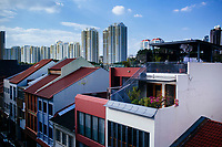Shophouses in Singapore.