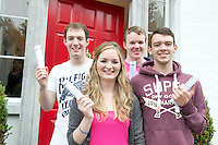 14/08/2013 Leaving cerifiate recipients Eoin Coughlan, (595 pts) Sorcha Egan (580 pts),  Cian Duffy(590) and Fergus McCabe(625) at Yeats College Galway. Photo:Andrew Downes