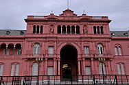 Buenos Aires constantly receives tourists from all over the world and offers a large choice cultural events, nightlife, restaurants and pubs. The City of Buenos Aires has 48 districts called barrios.Pictured: Microcentro Downtown financial and administrative heart of the city. , The Pink House.