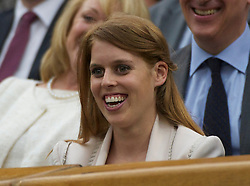 LONDON, ENGLAND - Tuesday, June 28, 2011: Beatrice Elizabeth Mary Windsor, Princess Beatrice of York watches from the Royal Box on Centre Court during the Ladies' Singles Quarter-Final on day eight of the Wimbledon Lawn Tennis Championships at the All England Lawn Tennis and Croquet Club. (Pic by David Rawcliffe/Propaganda)