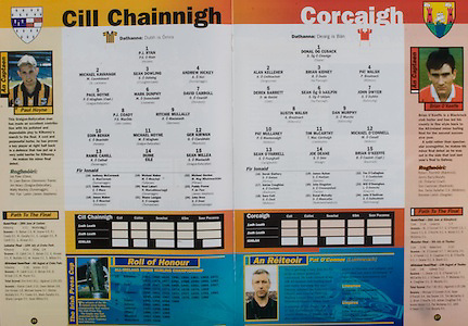 All Ireland Senior Hurling Championship - Final, .03.09.1995, 09.03.1995, 3rd September 1995, .03091995AISHCF, .Senior Clare v Offaly,.Minor Kilkenny v Cork,.Clare 1-13, Offaly 2-8, .Kilkenny, 1 PJ Ryan, Fenians, 2 Michael Kavanaghs, St Lachtains,  3 Sean Dowling, O'Loughlin Gaels, 4 Andrew Hickey, Dunnamaggin, 5 Paul Hoyne, Graigue Ballycallan, 6 Mark Dunphy, Lisdowney, 7 David Carroll, Dicksboro, 8 PJ Coady, John Lockes, 9 Ritchie Mullally, Glenmore, 10 Eoin Behan, Fenians, 11 Michael Hoyne, Graigue Ballycallan, 12 Ger Kirwan, Mooncoin, 13 Ramie Cahill, Dunmaggin, 14 Duine Eile, 15 Sean Millea, Graigue Ballycallan, subs, 16 Anthony McCormack, Dunnamaggin, 17 Eddie Mackey, Mooncoin, 18 James Maher, Dicksboro, 19 Michael Maher, Tullaroan, 20 Noel Lahart, Dunamaggin, 21 Shane Lanigan, Thomastown, 22 Michael Gordon, Piltown, 23 Paddy Power, James Stephens, 24 John  Drea, Bennetsbridge, ..Cork, 1 Donal Og Cusack, Cloyne, Alan Kelleher, Dungourney, 3 Brian Kidney, Na Piarsaigh, 4 Pat Walsh, Midleton, 5 Derek Barrett, Cobh, 6 Sean Og O hAilpin, Na Piarsaigh, 7 John Dwyer, Ballincollig, 8 Austin Walsh, Kildorrery, 9 Dan Murphy, Ballincollig, 10 Pat Mullaney, Midleton, 11 Tim McCarthy, Castlelyons, 12 Michael O'Connell, Midleton, 13 Sean O'Farrell, Carrigtwohill, 14 Joe Deane, Kileagh, 15 Brian O'Keeffe, Blackrock, subs, 16 Derek Slattery, Fermoy, 17 Adrian Coughlan, Blackrock, 18 Dara Cott, Midleton, 19 James Nyhan, Bandon, 20 John Kingston, Tracton, 21 Donal Mulcahy, Newtownshandrum, 22 Tim O'Callaghan, Rathluirc, 23 Will O'Donoghue, Kilworth, 24 John O'Sullivan, Ballinhassig,