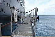 A cruise ship at the Caribbean island of Grand Turk