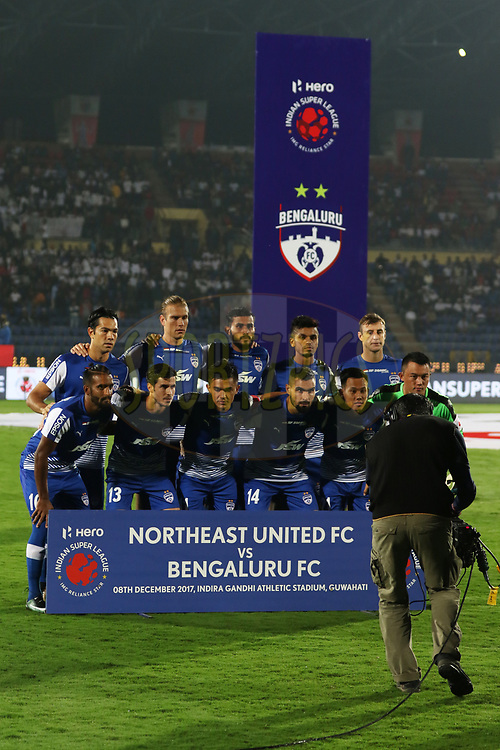 BFC team shots during match 19 of the Hero Indian Super League between NorthEast United FC and Bengaluru FC held at the Indira Gandhi Athletic Stadium, Guwahati India on the 8th December 2017<br /> <br /> Photo by: Saikat Das  / ISL / SPORTZPICS