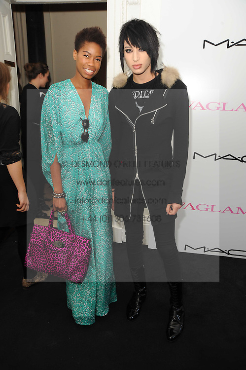 Tolula Adeyemi and Nat Weller at the MAC VIVA GLAM discussion hosted by Sharon Osbourne to promote MAC's latest fundraising range with all proceeds donated to HIV/AIDs charities via the MAC AIDS Fund, at Il Bottaccio, 9 Grosvenor Place, London on 1st March 2010.