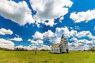 Country Church in a Summer Field, Alberta Canada
