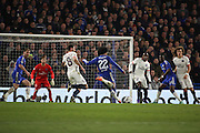 Chelsea attacker Willian (22) with a Chelsea chance during the Champions League match between Chelsea and Paris Saint-Germain at Stamford Bridge, London, England on 9 March 2016. Photo by Matthew Redman.