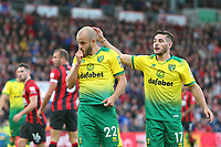 Football - 2019 / 2020 Premier League - AFC Bournemouth vs. Norwich City<br /> <br /> Teemu Pukki of Norwich City and Emiliano Buendia of Norwich City react after Pukki has a shot well saved at the Vitality Stadium (Dean Court) Bournemouth <br /> <br /> COLORSPORT/SHAUN BOGGUST