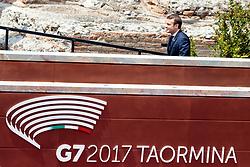 26.05.2017, Taormina, ITA, 43. G7 Gipfel in Taormina, im Bild Frankreichs Präsident Emmanuel Macron // France's President Emmanuel Macron during the 43rd G7 summit in Taormina, Italy on 2017/05/26. EXPA Pictures © 2017, PhotoCredit: EXPA/ Johann Groder