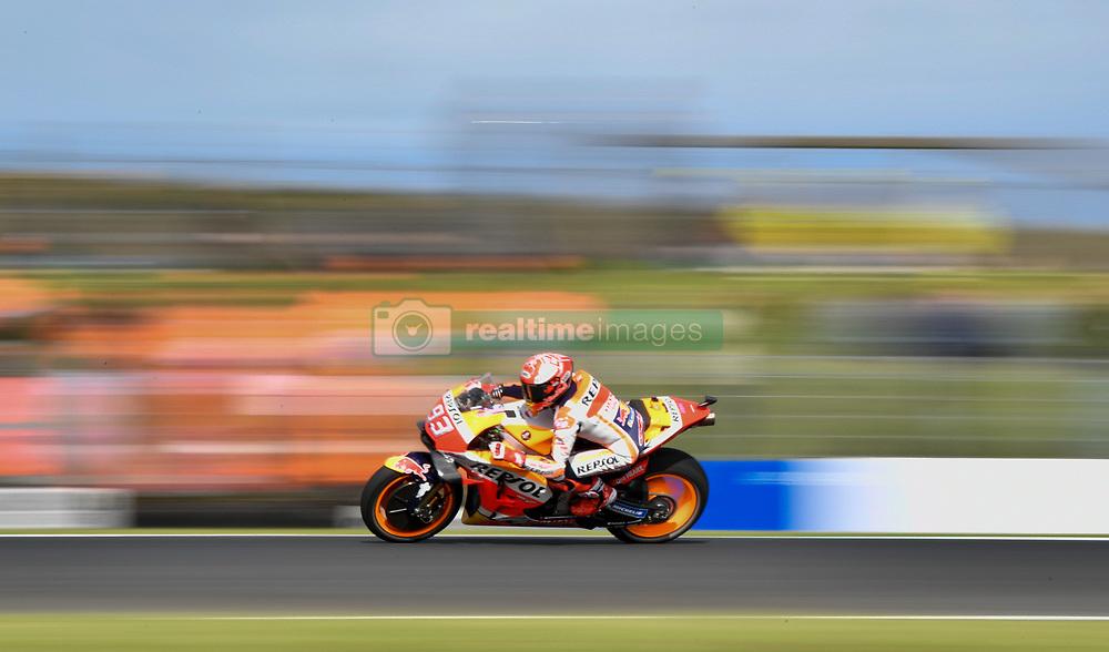 October 26, 2018 - Melbourne, Victoria, Australia - Spanish rider Marc Marquez (#93) of Repsol Honda Team in action during day 2 of the 2018 Australian MotoGP held at Phillip Island, Australia. (Credit Image: © Theo Karanikos/ZUMA Wire)