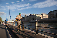 France. paris.  Henri IV quay on the seine river banks