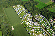 Nederland, Overijssel, Frederiksoord, 27-08-2013; familiecamping De Moesberg met stacaravans.<br /> Family camping in the east of the Netherlands. <br /> luchtfoto (toeslag op standaard tarieven);<br /> aerial photo (additional fee required);<br /> copyright foto/photo Siebe Swart.
