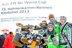 25.01.2013, Streif, Kitzbuehel, AUT, FIS Weltcup Ski Alpin, Abfahrt, Herren, Super G, im Bild die Guuger Musi aus der Schweiz // during mens SuperG ..of the FIS Ski Alpine World Cup at the Streif course, Kitzbuehel, Austria on 2013/01/25. EXPA Pictures © 2013, PhotoCredit: EXPA/ Markus Casna