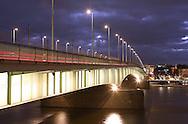 DEU, Germany, Cologne, the Deutzer bridge across the river Rhine.....DEU, Deutschland, Koeln, die Deutzer Bruecke ueber den Rhein...