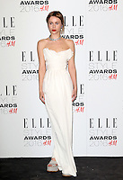 Billie JD Porter, ELLE Style Awards 2016, Millbank London UK, 23 February 2016, Photo by Richard Goldschmidt
