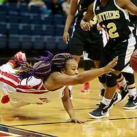 THOMAS WELLS | BUY at PHOTOS.DJOURNAL.COM<br /> Shannon's Asiaianna Anderson lays out trying to keep a loose ball from going out of bounds against Amory on Tuesday in Fulton.