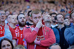 LIVERPOOL, ENGLAND - Sunday, May 12, 2019: Liverpool supporters during the final FA Premier League match of the season between Liverpool FC and Wolverhampton Wanderers FC at Anfield. (Pic by David Rawcliffe/Propaganda)