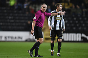 Referee Graham Salisbury during the The FA Cup match between Notts County and Bristol Rovers at Meadow Lane, Nottingham, England on 3 November 2017. Photo by Jon Hobley.