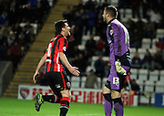 Peter Murphy during the Sky Bet League 2 match between Morecambe and Cambridge United at the Globe Arena, Morecambe, England on 24 November 2015. Photo by Pete Burns.
