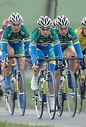 03-04-2006 WIELRENNEN: COURSE DOTTIGNIES: BELGIE<br /> Suzanne de Goede, Josephine Groenveld en Roxane Knetermann / aa cycling team<br /> ©2006-WWW.FOTOHOOGENDOORN.NL