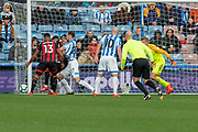 Callum Wilson of Bournemouth & Callum Wilson of Bournemouth goal mouth action just outside during the Premier League match between Huddersfield Town and Bournemouth at the John Smiths Stadium, Huddersfield, England on 9 March 2019.