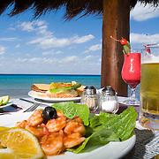 Shrimp dish. .Cozumel, Mexico.
