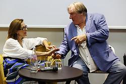 Gerard Depardieu and Carol Bouquet in Taormina. 28 Jul 2017 Pictured: Gerard Depardieu and Carol Bouquet. Photo credit: Vincenzo Aloisi / MEGA TheMegaAgency.com +1 888 505 6342