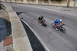 Maria Giulia Confalonieri (ITA), Marta Tagliaferro (ITA) lead at Giro Rosa 2018 - Stage 6, a 114.1 km road race from Sovico to Gerola Alta, Italy on July 11, 2018. Photo by Sean Robinson/velofocus.com