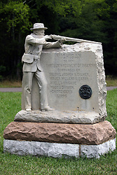 July 2007: Michigan. Monuments of Valor at the Chickamauga National Park in Georgia. There are hundreds of memorials and markers throughout the park.  They tell the story of the battle, show positioning, and honor those who were engaged in the battle. Attractions near Chattanooga Tennessee. Point Park, National Park Service - Lookout Mountain, TN.