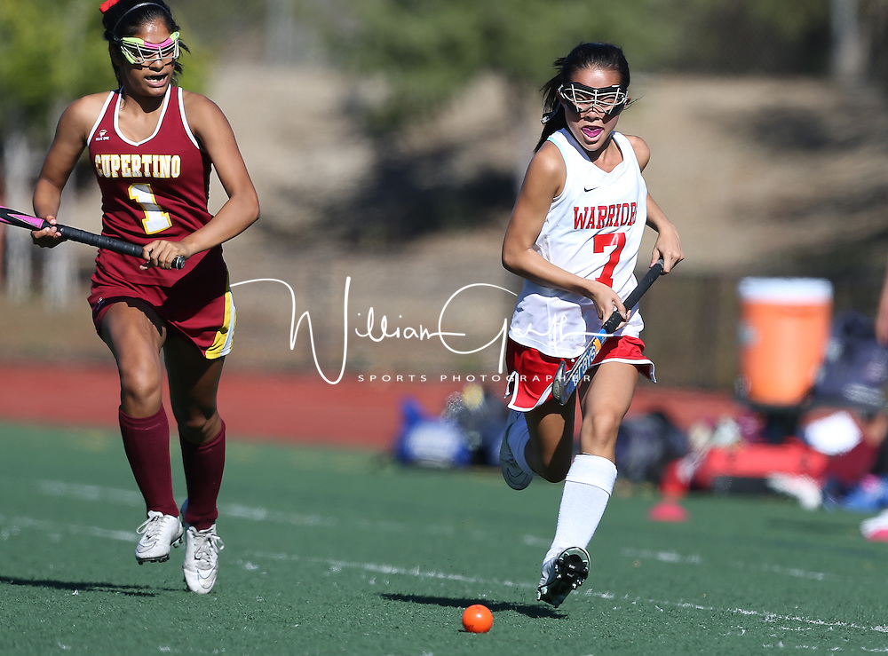 (Photograph by Bill Gerth for Max Preps) Cupertino vs Westmont in a preseason field hockey game at Westmont High School, Campbell CA on 8/30/16.