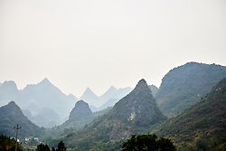 Karst mountains at GREE Tour of Guangxi Women's WorldTour 2019 a 145.8 km road race in Guilin, China on October 22, 2019. Photo by Sean Robinson/velofocus.com