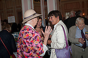 SHIRLEY HUGHES; VALERIE GROVE, The Oldie - 20th anniversary party. Simpson's-in-the-Strand, 100 Strand, London, WC2. 19 July 2012