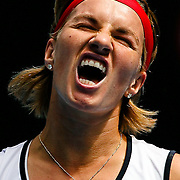 Svetlana Kuznetsova of Russia reacts during her second round match against her compatriot Anastasia Pavlyuchenkova at the Australian Open Tennis Tournament in Melbourne, Australia, 20 January 2010. Kuznetsova won in straight sets.
