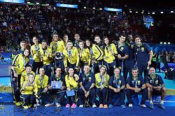 TEAM BRAZIL<br /> AWARDING CEREMONY<br /> VOLLEYBALL WOMEN'S WORLD CHAMPIONSHIP 2014<br /> MILAN 12-10-2014<br /> PHOTO BY FILIPPO RUBIN