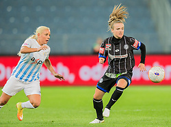 05.10.2016, Merkur Arena, Graz, AUT, CHL, SK Sturm Graz Damen vs FC Zuerich Frauen, Sechzehntelfinale, Hinspiel, im Bild Adriana Kristina Leon (Zuerich), Julia Kofler (Graz) // during the Round of 32, 1st Leg of the UEFA Womens Champions League between SK Sturm Graz Women and FC Zuerich Women at the Merkur Arena, Graz, Austria on 2016/10/05, EXPA Pictures © 2016, PhotoCredit: EXPA/ Dominik Angerer