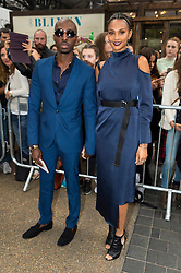 © Licensed to London News Pictures. 18/09/2016.  AZUKA ONONYE and ALESHA DIXON attends the TOP SHOP UNIQUE  Spring/Summer 2017 show. Models, buyers, celebrities and the stylish descend upon London Fashion Week for the Spring/Summer 2017 clothes collection shows. London, UK. Photo credit: Ray Tang/LNP<br /> <br /> <br /> London, UK. Photo credit: Ray Tang/LNP