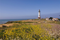 Pigeon Point Lighthouse, major example of  lighthouse architecture, now a Youth Hostel,.San Mateo Coast of California, south of San Francisco.  Photo copyright Lee Foster, 510-549-2202, lee@fostertravel.com, www.fostertravel.com. Photo 475-30933