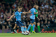 SYDNEY, AUSTRALIA - OCTOBER 27: Sydney FC midfielder Brandon O'neill (13) plays a long pass at The Hyundai A-League Round 1 soccer match between Sydney FC and Western Sydney Wanderers FC The Sydney Cricket Ground in Sydney on October 27, 2018. (Photo by Speed Media/Icon Sportswire)