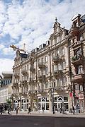 ehem. Hotel Grüner Wald, Marktstraße, Wiesbaden, Hessen, Deutschland | l former hotel Grüner Wald, Market Street, Wiesbaden, Hesse, Germany