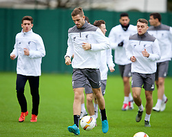 LIVERPOOL, ENGLAND - Wednesday, December 9, 2015: Liverpool's captain Jordan Henderson during a training session at Melwood Training Ground ahead of the UEFA Europa League Group Stage Group B match against FC Sion. (Pic by David Rawcliffe/Propaganda)