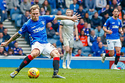 Scott Arfield of Rangers FC during the Ladbrokes Scottish Premiership match between Rangers and Aberdeen at Ibrox, Glasgow, Scotland on 27 April 2019.