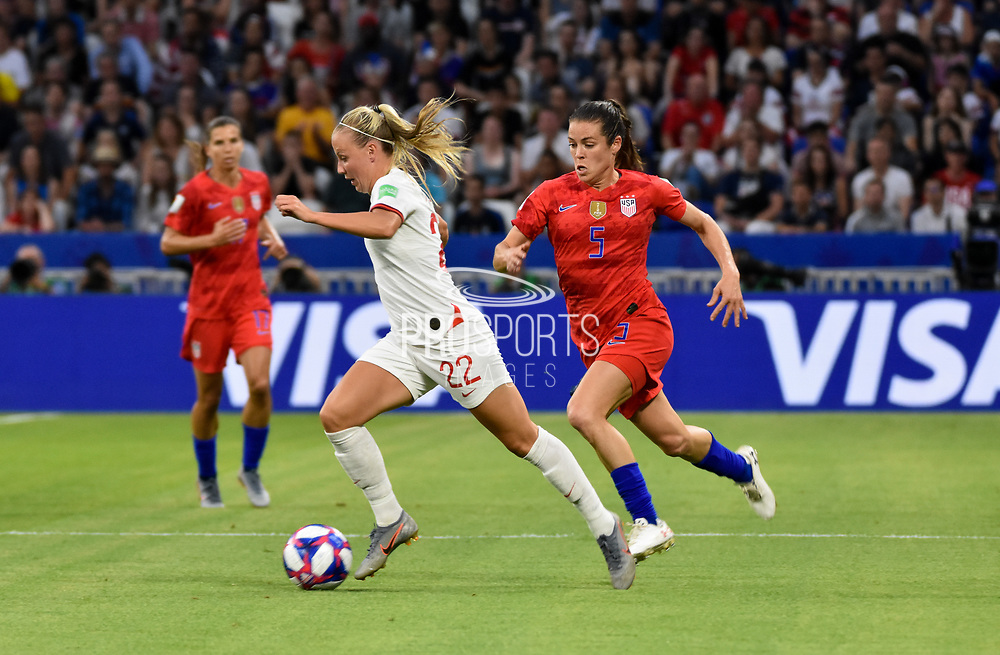 Beth Mead of England and Kelley O Hara of USA during the FIFA Women's World Cup France 2019, semi-final football match between England and USA on July 2, 2019 at Stade de Lyon in Lyon, France - Photo Antoine Massinon / A2M Sport Consulting / ProSportsImages / DPPI