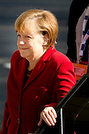 25-3-2014 THE HAGUE  - Arrival of Angela Merkel  for the NSS summit day 2. COPYRIGHT ROBIN UTRECHT