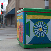 """Transitions,"" painted by Cassandra Bloedel sits at the corner of Coal Street and First Street in Gallup."